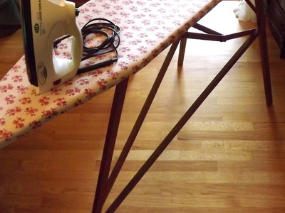 How To recover a Vintage Folding Wood Ironing Board, DIY