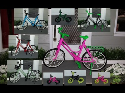 How to repaint Bicycles for Dolls