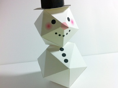 Make a Christmas Snowman with paper.พับตุ๊กตาหิมะ