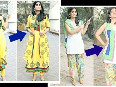 Make jackets for anarkalis and salwar kameez from dupattas- No sewing method