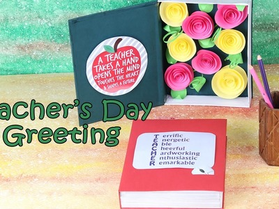 Teacher's Day Greeting Card |Teachers Day Special 2016 | Crafts For Kids