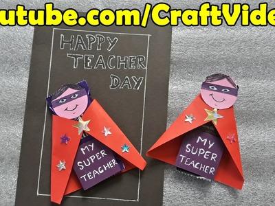 Teachers Day Card Ideas for Kids   Chocolate Wrapping Ideas   Easy Teachers Day Cards