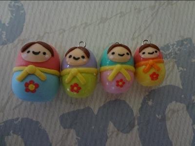 Tutorial On How To Make a Cute Matryoshka Doll Charm
