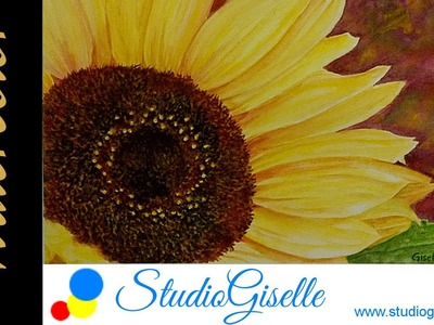 Watercolor Sunflower Speed Painting