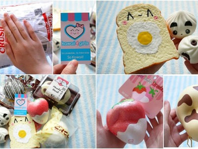 AMAZING KAWAII4GIRLS REVIEW PACKAGE! Puni Maru, DIY squishies and more!