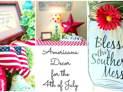 COUNTRY CHIC 4TH OF JULY HOME TOUR | CHEAP DIY HOME DECOR IDEAS