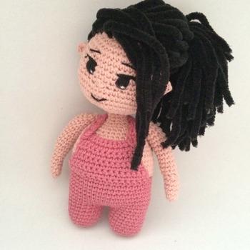 Crochet Pattern Cute Chubby Girl Amigurumi Pdf