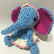 Crochet Pattern Elephant Bluelli Amigurumi Pdf