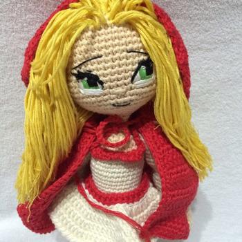 Crochet Pattern Red Riding Hood Girl Amigurumi Pdf