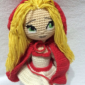 Crochet Pattern Red Riding Hood Girl Amigurumi Pdf