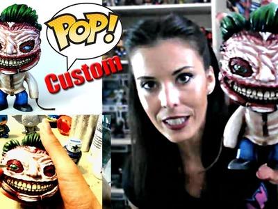 Custom Funko Pop New 52 Joker ( A DIY sculpt + repaint Joker Death of the family Vinyl figure )