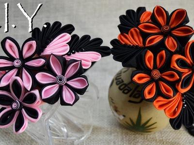 D.I.Y. Clustered Kanzashi Flower Headband | MyInDulzens