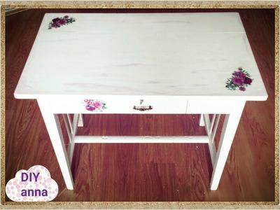 Decoupage table shabby chic DIY ideas tutorial. URADI SAM