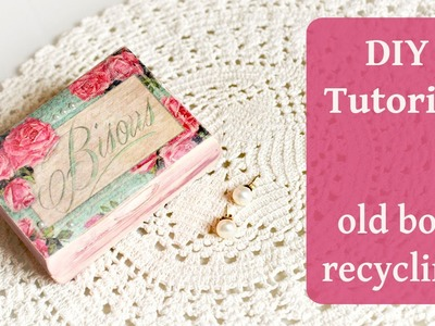 DECOUPAGE TUTORIAL - DIY shabby chic box. box recycle diy - Pentart Soft Paint. Découpage