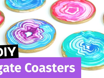 DIY Agate Coasters | Thrift Store Art Challenge with MACC | Sea Lemon