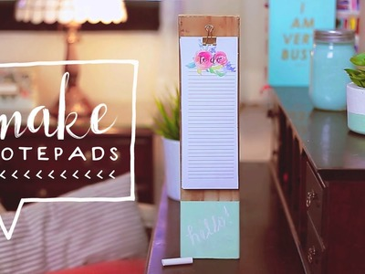 DIY Back to School Supplies! Free Printable Notepad for School + Room Decor (Collab. Jimena Aguilar)