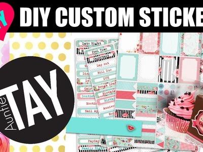DIY Custom Stickers with the Cricut Explore Air