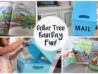 DIY DOLLAR TREE MAIL BOX | Rain Day Fun