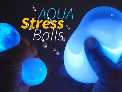 DIY GLOW AQUA Squishy Stress Balls !! How to Make Liquid Stress Balls!