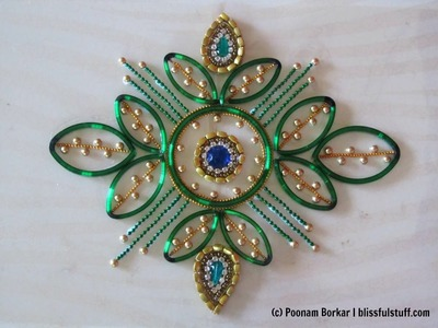 DIY - Kundan rangoli using broken bangles | Best out of waste