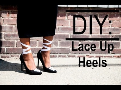 DIY: Lace Up Ballerina Heels