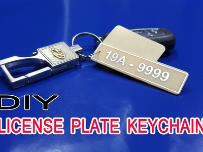 DIY License Plate Keychain From Copper clad board simple