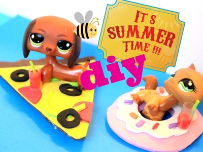 DIY LPS Pizza and donut pool floaties
