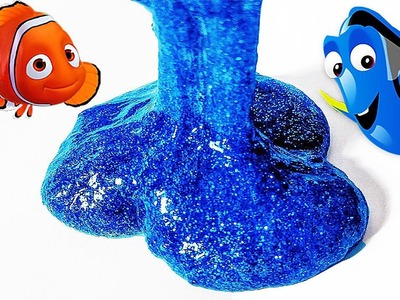 "DIY: Make Your Own Disney Pixars ""Finding Dory"" Inspired Blue Slimy Slime! Super Smooth and Sparkly!"