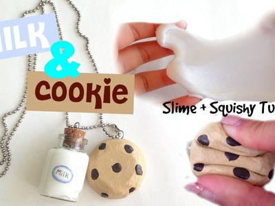 DIY Milk and Cookie Charm!! ( Slime and Squishy Tutorial )