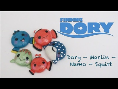 DIY Polymer Clay Finding Nemo Charms