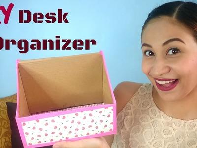 DIY Shoe Box Desk Organizer | Lolly Isabel