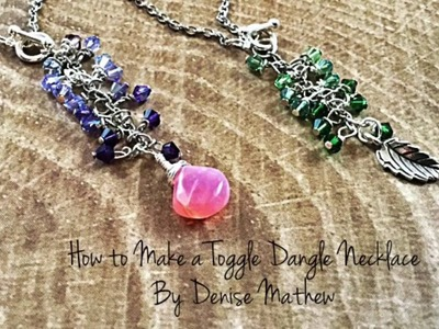 DIY Toggle Crystal Ombré Necklace by Denise Mathew