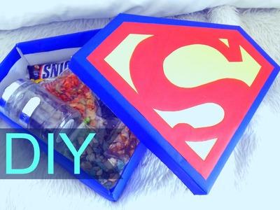 DIY ♡ UN SUPER DETALLE ♡ Caja de SUPERMAN ♡  ideas ♡