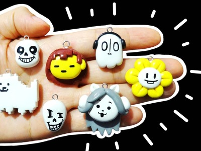 DIY Undertale Sans, Papyrus, Temmie, Annoying Dog, Napstablook & MORE! Polymer Clay Tutorial