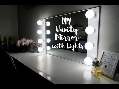 DIY VANITY MIRROR WITH LIGHTS [UNDER $100!!!] || SimplySandra
