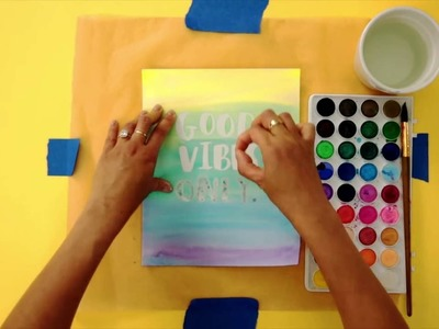 DIY Watercolor Art I Kin Community