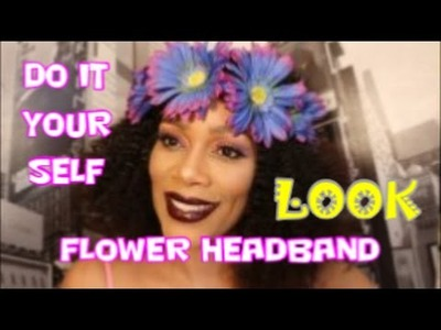 How to FLOWER CROWN DIY Dollar Tree Edition