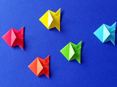 How to Make an Origami Fish - Easy Tutorial - DIY