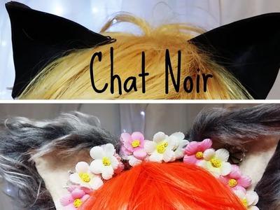 Orelhas de Gato Chat Noir.\__.\ DIY Miraculous Ladybug - Cat ears Chat Noit Miraculous l ANCHISA