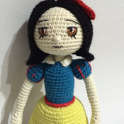 Crochet Pattern Snow White Amigurumi Doll Pdf