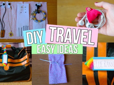 Travel DIY's: Luggage Tag, Jewelry Organizer + Earbud Holder!