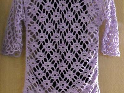 Crochet Diamond Stitch Tunic Shirt (pt1)