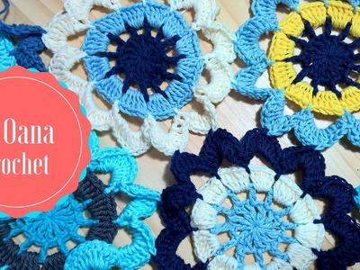 Crochet large flower motiv