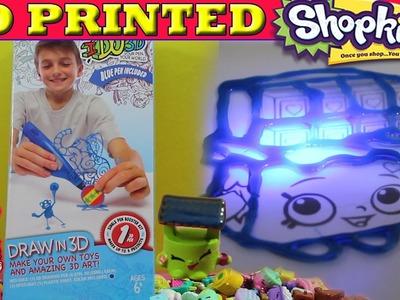 Custom 3D Printed Shopkins - 3D Pen - I Do 3D Shopkins DIY Crafts Project