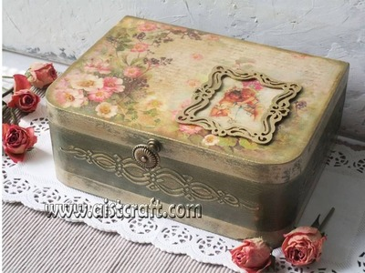 Decoupage tutorial - DIY. How to use french gilding wax. Vintage style. Shabby chic