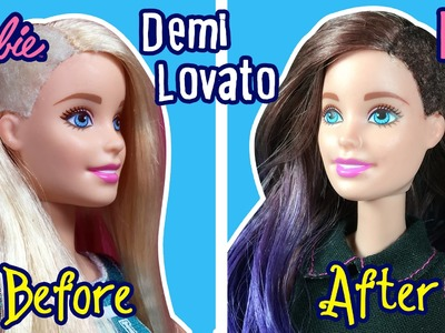 Demi Lovato Hair Tutorial for Barbie Doll - Barbie Haircut Tutorial - DIY - Making Kids Toys