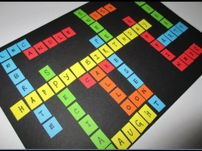 DIY : #139 Colorful SCRABBLE Birthday Card ♥