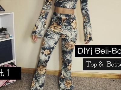 DIY|| Bell Bottoms. Flare Legs Pants | Top & Bottom Set | Part 1