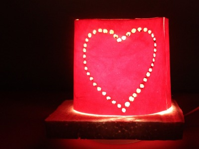 DIY Best out of waste from Plastic bottle - Heart Lamp
