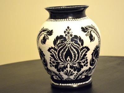 DIY Decoupage Vase With Liquid Pearls (HD)